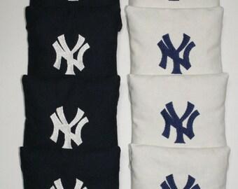 NEW YORK YANKEES Cornhole Embroidered Bean Corn Toss Bags A.C.A. Regulation New