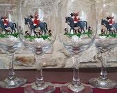 Fox Hunt wine glasses