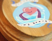 You stole my heart - hand painted nautical plaque