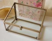 Made to Order: Glass Trinket Box Display Silver or Gold Finish