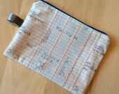 Zipper pouch - graph paper