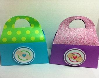 DOC MCSTUFFINS Birthday Party Favor Gift Box Doctor Bag Design