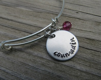 "Coumadin Bracelet - Hand-Stamped Medical Alert Bracelet ""coumadin"" and an accent bead of your choice"