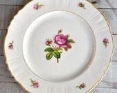 Federal Shape Syracuse China - Vintage Pink Rose Floral Dinner Plate
