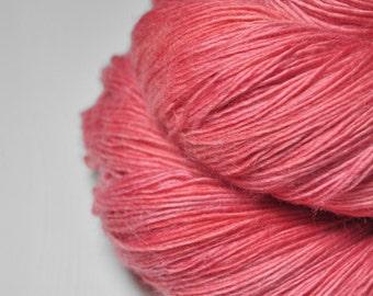 Artificial rose coral - Merino/BabyCamel Fingering Yarn