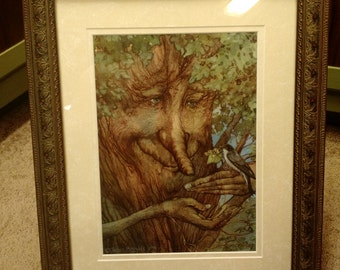 The Lost Linden Signed Print in an 11x14 Decorative Gold Frame