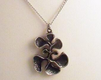 Vintage modernist brutalist free form pendant necklace