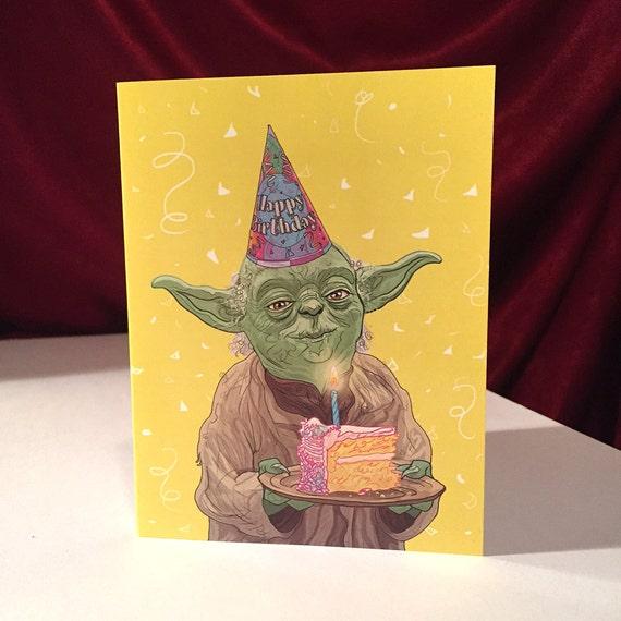 Yoda Birthday Card By CastleMcQuade On Etsy
