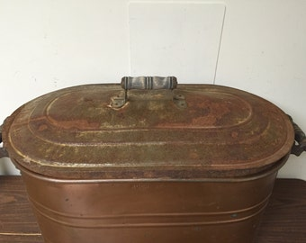 Antique Lid for Copper Laundry Boiling Pot - Lid ONLY
