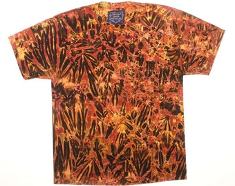 L Shibori Men's Tie Dye T Shirt Tiger 2w