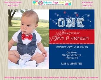 4th of july invitation invite july 4th birthday invitation 4th of july birthday invitation photo picture DIY Print Your Own, digital