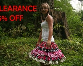 Girls Party Skirt Size 10/12 - Dance Skirt Size 10/12 - Girls Dance Skirt Cotton Clothing - Tween Party Skirt - On Clearance
