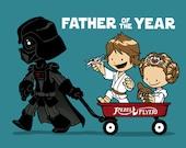Wagon Ride TEE, Unisex/Ladies/Kids, Star Wars, Darth Vader, Father, cute, princess, Luke, wagon, FREE SHIPPING