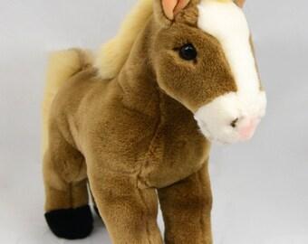 Vintage Steiff Cosy Ferdy Horse Brown 5475/28 Stuffed Animal Pony Donkey Pferd