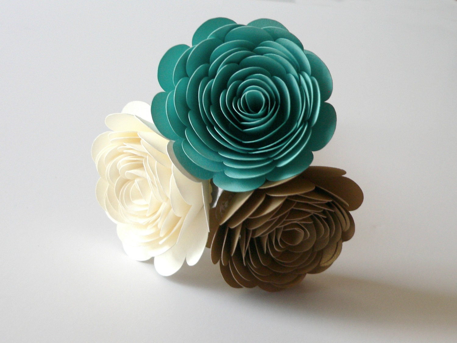 Turquoise Ivory And Gold Wedding Bouquet Turquoise Bouquet