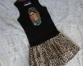 Olivia Paige - Little sugar skull rockabilly punk rock outfit Tattoo Dress Frida Kahlo
