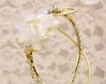 Beach wedding headband bridal hair piece,beach wedding hair accessories,seashell headband wedding,wreath bridal headpiece beach bridal crown