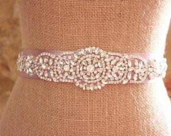 Sparkly rhinestone sash, Rhinestone bridal sash, rhinestone bridal belt, Sparkly belt, Crystal sash