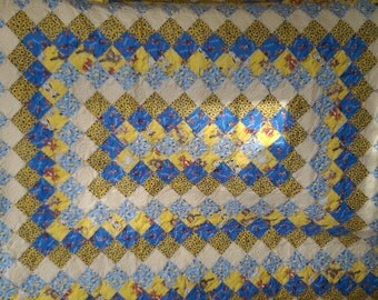 """Cheerful Colors Trip Around the World 60"""" X 74"""" Quilt"""
