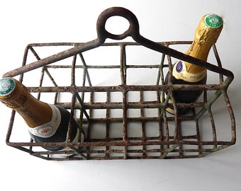 French Vintage 8 Bottle Wine Carrier for Chilling Wine
