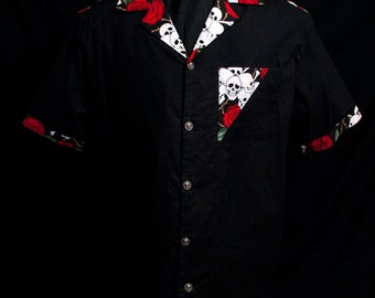 Accent Skull & Roses limited-edition ultra-high quality men's shirt