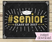 Last Day of Senior Year Sign - 1st Day of School Sign Printable - Photobooth Props - Senior Sign - Chalkboard Sign - Instant Download