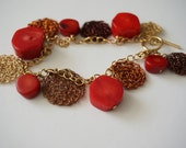 Coral Bracelet Monists Goldfield Crochet Wire