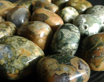 Tumbled Rhyolite - Rainforest Jasper, Australian Rainforest Jasper, healing crystal, Reiki healing, jewelry supply