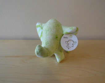 Baby Safe Tiny Stuffed Elephant- Green