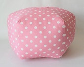 RESERVED Pink Polka Dot Pouf Cover