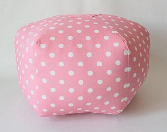 Polka Dot Pouf / Floor Pillow / Ottoman Pouf / Foot Stool / Foot Rest / Moroccan Pillow / Round Pillow / Unique Home Decor / Decorative Pouf