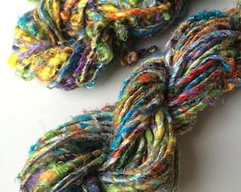 Banana yarn, jewellery making yarn, chunky yarn, Multicoloured, 200g, knitting yarn, crochet yarn, weaving yarn, fibre art and crafts