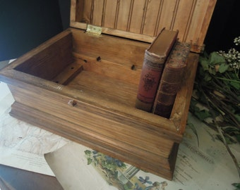 Vintage Industrial Wood Tool Box / Industrial Wood Chest / Studio Storage / Crafts