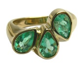 Everday Jewel! 2.50tcw Multi Colombian Emerald & Gold Ring 14k