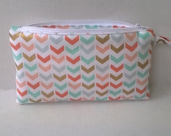 Pencil Pouch  Zipper Pouch  Handmade Pouch  Pencil Case  Fabric Pencil Pouch Free Monogram Personalized Pencil Bag Small Zipper Bag Cute