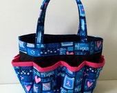 Breast Cancer Awareness Bingo Bag // Pink Ribbon // Craft Organizer // Makeup Organizer // Caddy // Teacher Tote // Nurse Tote