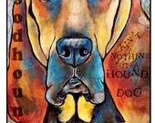 Pop Art Bloodhound Leash Hook 6x8 Pet Leash Hook Dog Leash Collar Hook Pet Home Decor