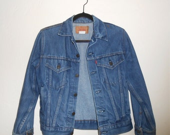 Vintage 1970s children's LEVI'S blue jean denim jacket, size XS women's / 16 girls