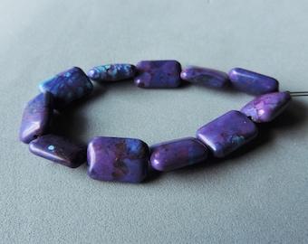 Sleeping Beauty Turquoise, Purple Dyed Sleeping Beauty Turquoise, Designer Beads, 11 Beads, Rare Turquoise
