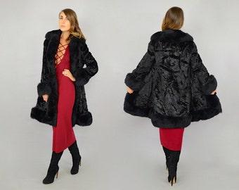 SALE • 60's Faux Fur Princess Coat
