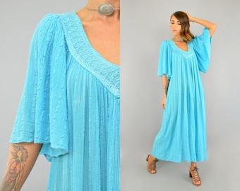 70's Grecian Gauze Dress