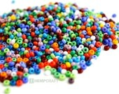 Rainbow Seed Bead Mix, 8/0 Czech Glass Sead Beads, 3mm, 1oz