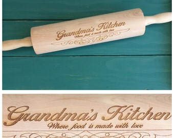 Personalized Gift: Engraved Rolling Pin Christmas present mom grandma aunt sister baking baker cookies dough birthday home kitchen shower
