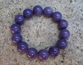 Charoite Bracelet Russian Stone Ball Beads Purple Natural Untreated 15 mm AA grade 56.6 gram