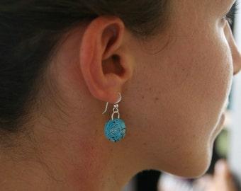 Earrings / Sterling Silver / Paper Earrings / Dangle Earrings / Drop Earrings / Gift for Her / First Anniversary Gift / 1st Anniversary Gift