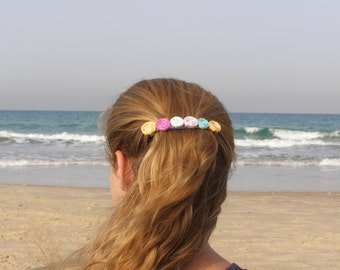 Hair Barrette For Women / Hair Barrette / Paper Accessories / Spiral Jewelery / Gift For Her Paper / First Anniversary Gift /