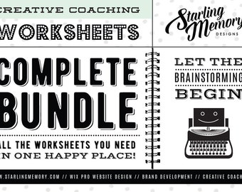 MARKETING WORKSHEET BUNDLE - Business Plan Worksheets - Branding Worksheets - Marketing Worksheets - Writing Worksheets