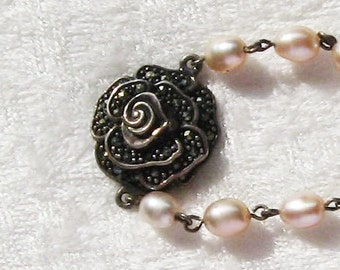 Lovely Fresh Water Pearl and Sterling Bracelet