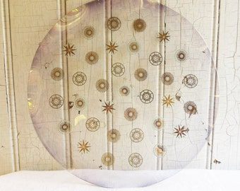 Vintage Glama Glass Atomic Starburst Serving Tray - Dorothy Thorpe Design for Sinclair Glass Co - Mid-Century 1950s - Dinner Serving Piece