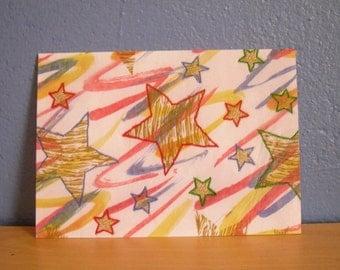 Stitched Stars Postcard Print